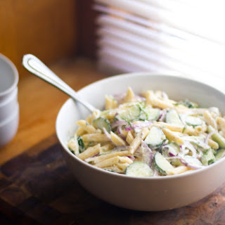 Cucumber and Dill Pasta Salad.