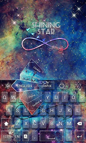 android Shining Star GO Keyboard Theme Screenshot 1