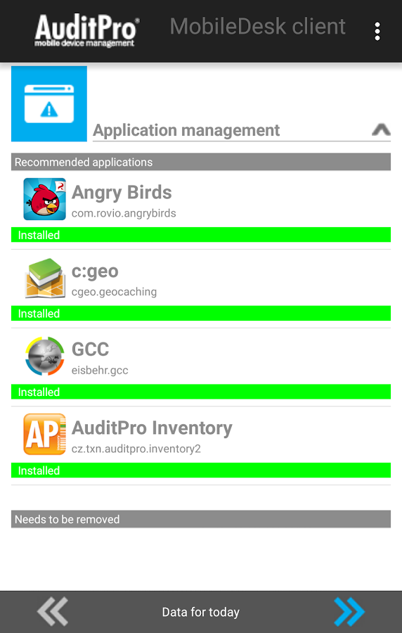 AuditPro MobileDesk Client- screenshot