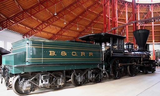 B&O Railroad No. 25, William Mason, a 28-ton steam locomotive built in 1856, in the B&O Railroad Museum in Baltimore.