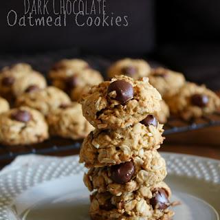 Toasted Coconut Dark Chocolate Oatmeal Cookies