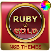Ruby & Gold Theme for Xperia