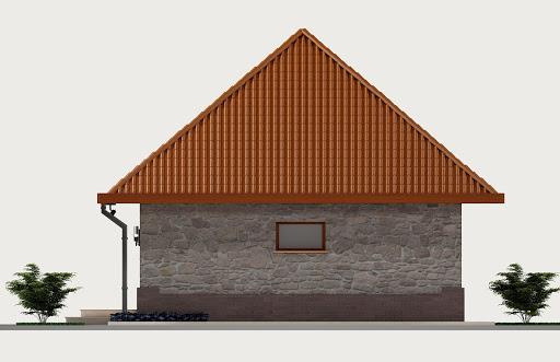Garaż G3 - Elewacja tylna