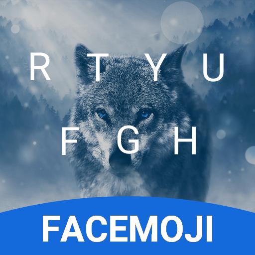Winter Wolf Emoji Keyboard Theme for GOT