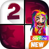 6IX9INE FEFE Piano Tiles game