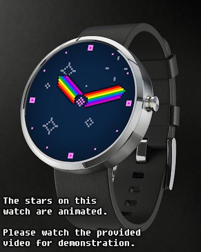 Watch Face Rainbow Stars