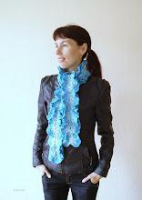 Photo: женский шарфик с оборками Лед