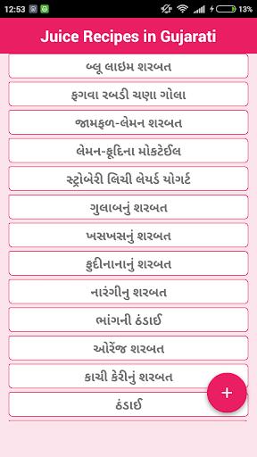 Juice Recipes in Gujarati