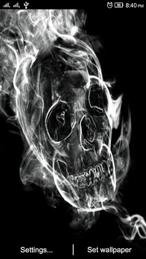 3D Skull Live Wallpaper screenshot 1 3D Skull Live Wallpaper screenshot 2 ...