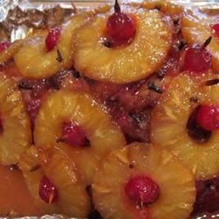 Baked Ham with Sweet Glaze.