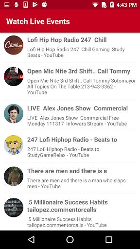 Watch Live TV Events 1.2 screenshots 6