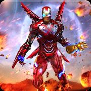 Super Hero Iron Machine Man Flying Rescue Mission