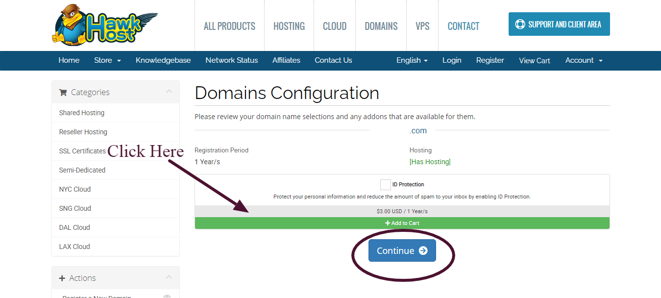 Hawkhost Activation  Step 6