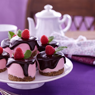 Raspberry Cheesecakes.