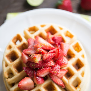 Key Lime Homemade Waffles