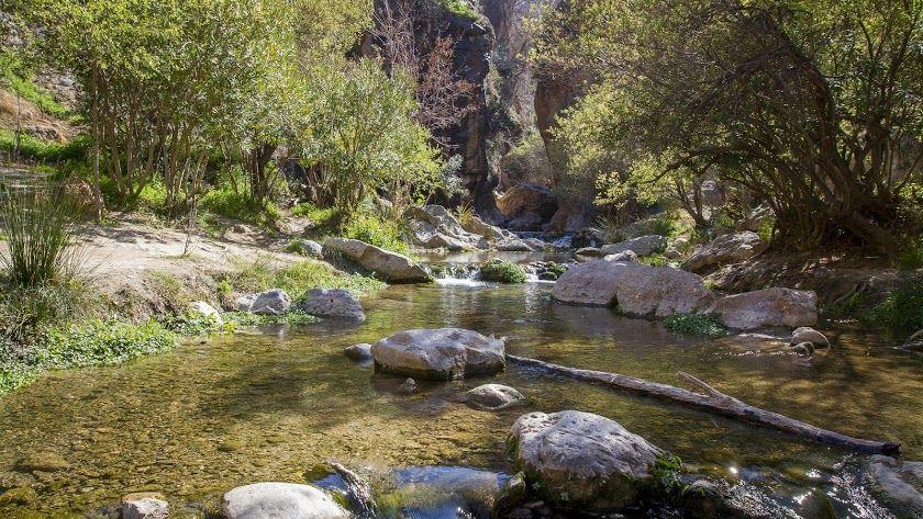 Canales de Padules, un conjunto de senderos acuáticos excavados por el río Andarax