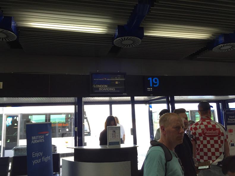 ザグレブ空港 搭乗口