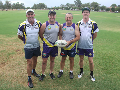 Narrabri's Northern Eagles representatives Terrence Duncan, Tim Vaughan, Tim Baxter and Linton Grumley.