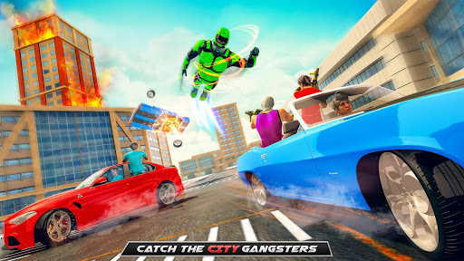 Real Speed Robot Hero Rescue Games screenshot 4