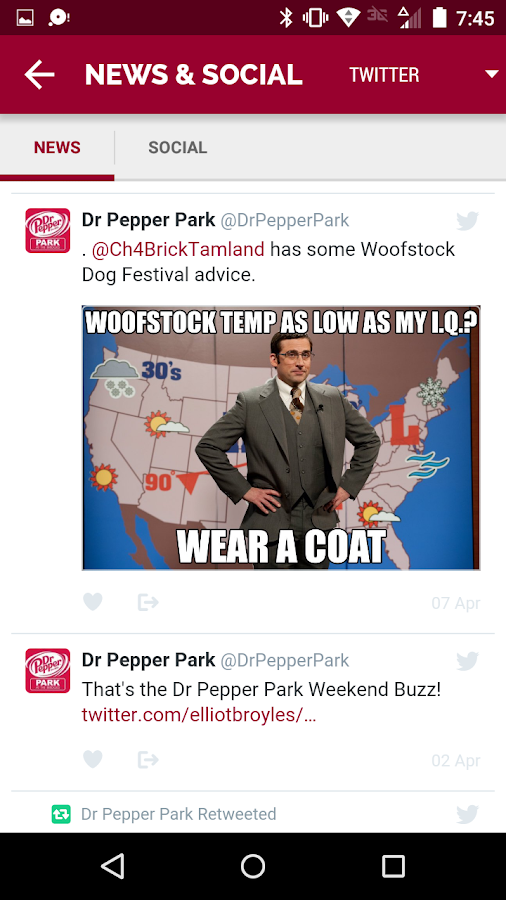 Dr Pepper Park Roanoke Events- screenshot