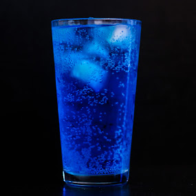 The Bluest Fanta by Brendon Hallman - Food & Drink Alcohol & Drinks ( glass, blue, ice, cold, fanta, drink,  )