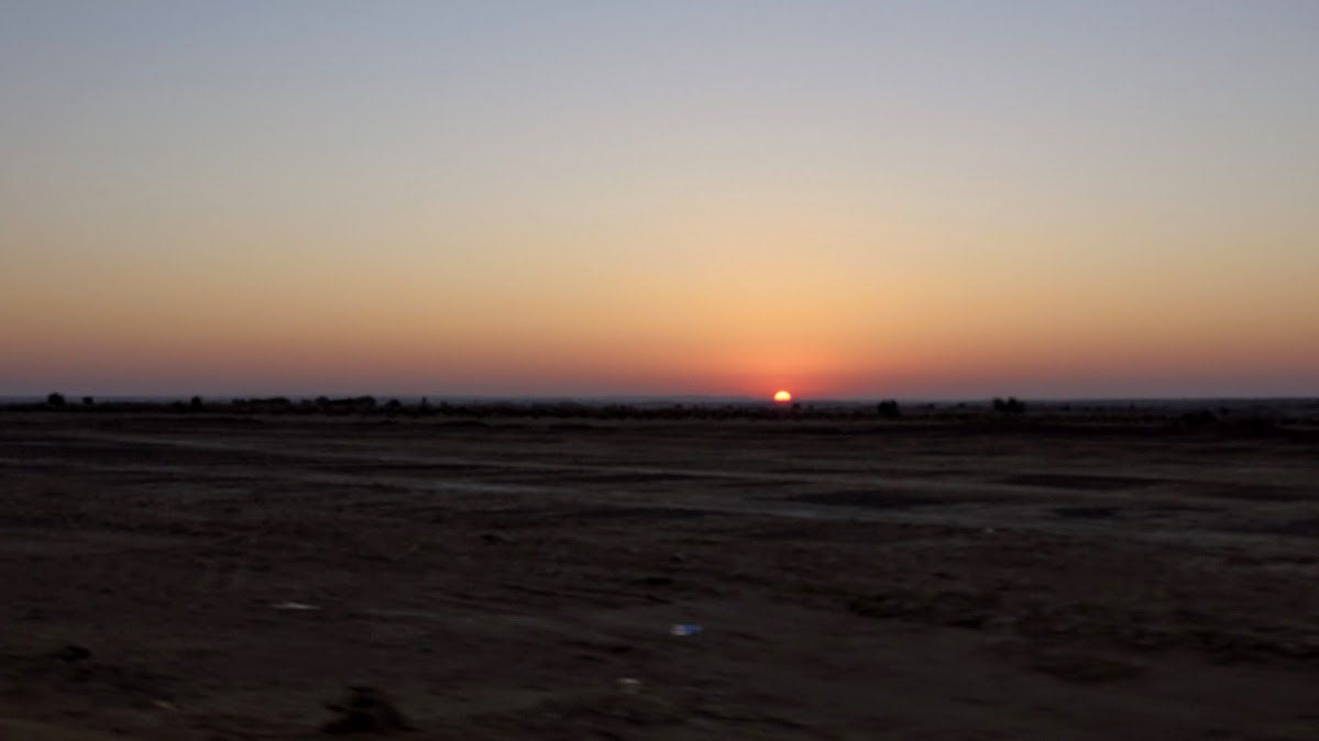 India. Rajasthan Thar Desert Camel Trek. First morning sunrise.