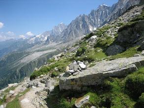 Photo: Descente vers la vallée de Chamonix