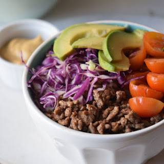 Easy and Healthy Hamburger Bowl Recipe {Paleo, Gluten-Free, Clean Eating, Dairy-Free, Whole30}.