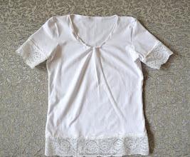 Photo: футболка с кружевом-кулир