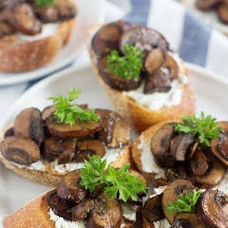 Mushroom Goat Cheese Crostini.