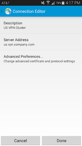 AnyConnect for Samsung KNOX screenshot 2