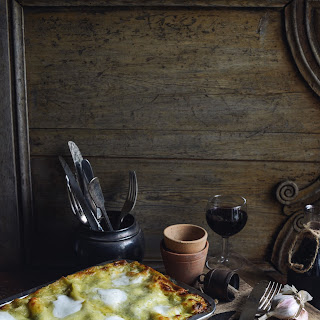 Creamy Chicken & Leek Lasagne.