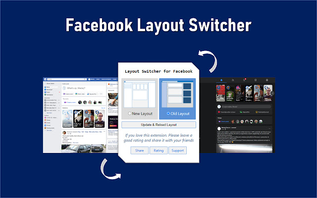 Layout Switcher for Facebook