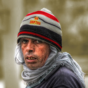 Cold Winter by Tawfik Dajani - People Portraits of Men ( winter, cold, rough, egypt, man )