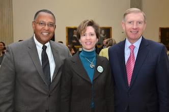 Photo: Chief Justice Roderick Ireland (Supreme Judicial Court), BBA President-Elect Julia Huston, and BBA President Paul Dacier.