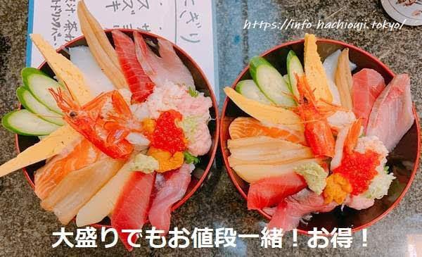 独楽寿司 大盛り無料
