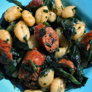 Chorizo with Spinach and Gnocci.
