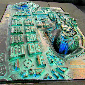 Metal Scuplture of Edinburgh by Nicola Graham - Artistic Objects Other Objects ( sculpture, metal, artistic objects )