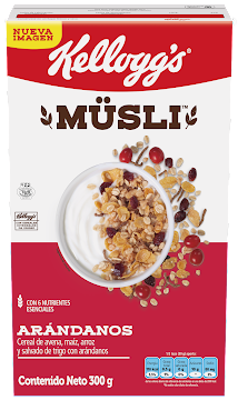 Cereal Kellogg´s Müsli   Cosecha Roja x300G.