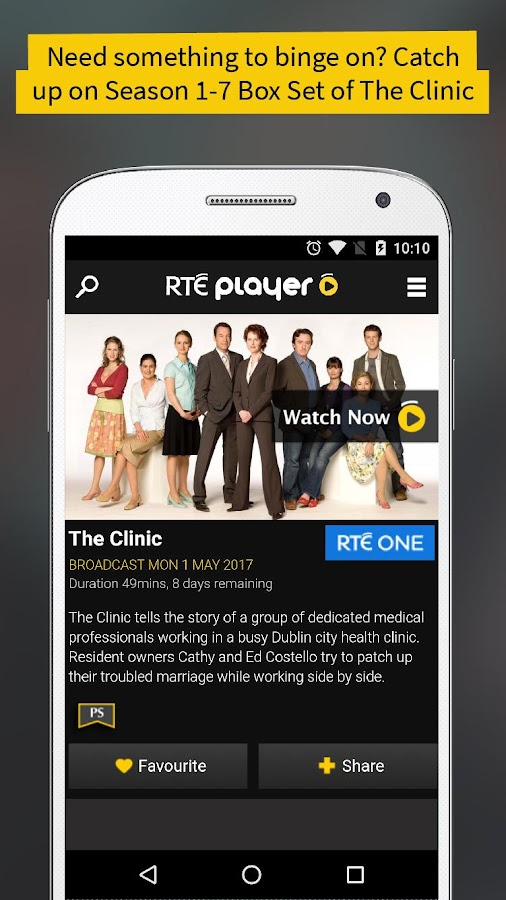 RTÉ Player- screenshot