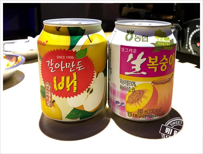 油蔥酥韓國烤肉村菜單水梨汁水蜜桃汁