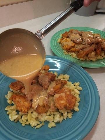 Tony's Chicken Paprikash Over Spaetzle (dumplings) Recipe