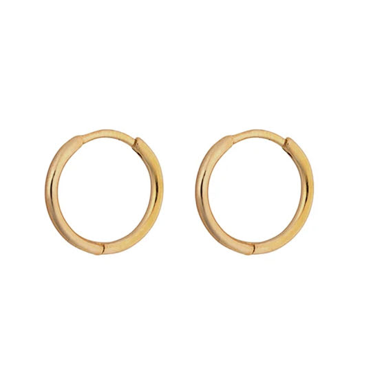 Syster P Kristine Small Hoops Gold, One Size