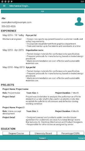 PROFESSIONAL RESUME BUILDER Apk 100 Download Only APK file for