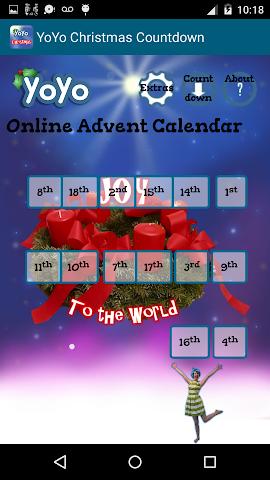 android YoYo Christmas Countdown Screenshot 1