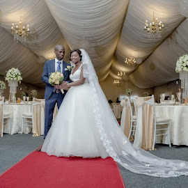 Just Married by Ellen Strydom - Wedding Bride & Groom ( #wedding #bride #groom #reception )