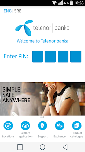 Telenor banka- screenshot thumbnail