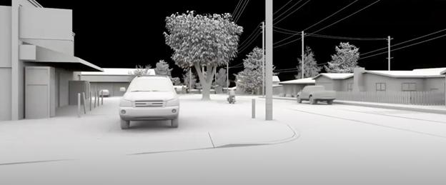 3D models over laser scan of motor vehicle collision site