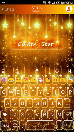 Gold Star Emoji Keyboard
