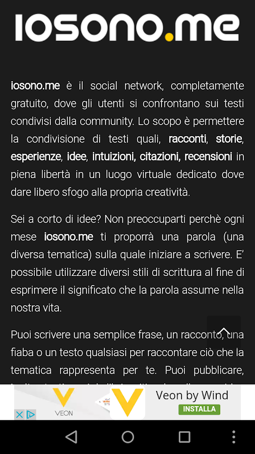 Social Network Arte | iosono.me- screenshot